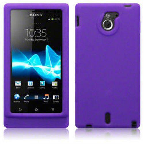 Θήκη Σιλικόνης για Sony Xperia Sola MT27i Purple