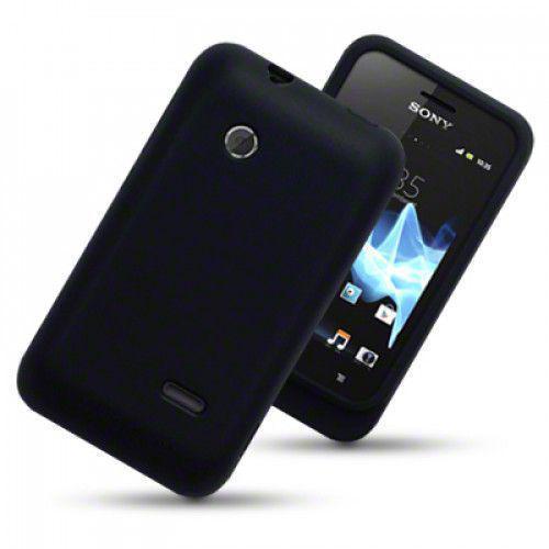 Θήκη Σιλικόνης για Sony Xperia Tipo Black by Warp