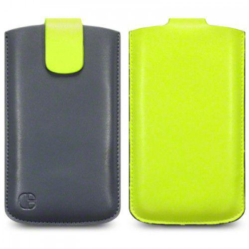 Θήκη Universal Phone Leather Pouch Case Yellow by Warp size XL για I9500 Galaxy S4, Xperia S ,Lumia 920