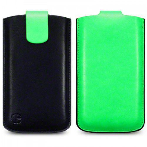 Θήκη Universal Phone Leather Pouch Case Green by Warp size XL για I9500 Galaxy S4, Xperia S ,Lumia 920