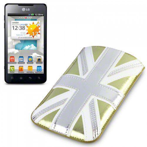 Θήκη PU Leather Pocket Case Cover Sleeve για Xperia S,Lumia 720 ,One X Gold Union Jack