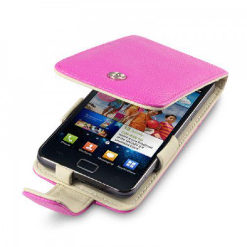 Θήκη Flip Genuine Leather Pink για Samsung Galaxy S2 i9100 by Warp