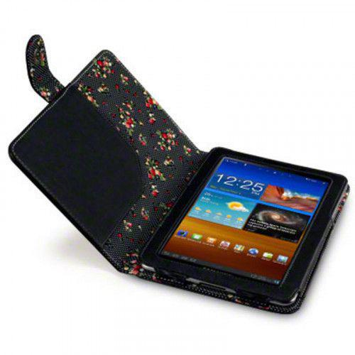 Θήκη Samsung P6800 Galaxy Tab 7.7 PU Leather Wallet Case by Warp - Black Floral
