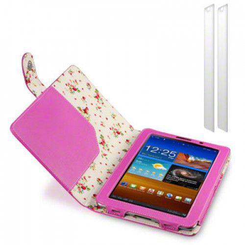 Θήκη Samsung P6800 Galaxy Tab 7.7 PU Leather Wallet Case by Warp - Pink Floral