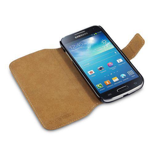 Θήκη για Samsung i9190 / I9195 Galaxy S4 Mini Low Profile PU Leather Wallet by Warp Black