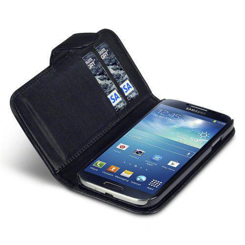 Θήκη για Samsung i9500 Galaxy S4 PU Faux Leather Wallet Case By Warp Black