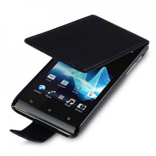 Θήκη Flip για Sony Xperia J ST26i μαύρη