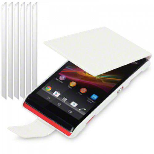 Θήκη Flip για Sony Xperia L C2105 White