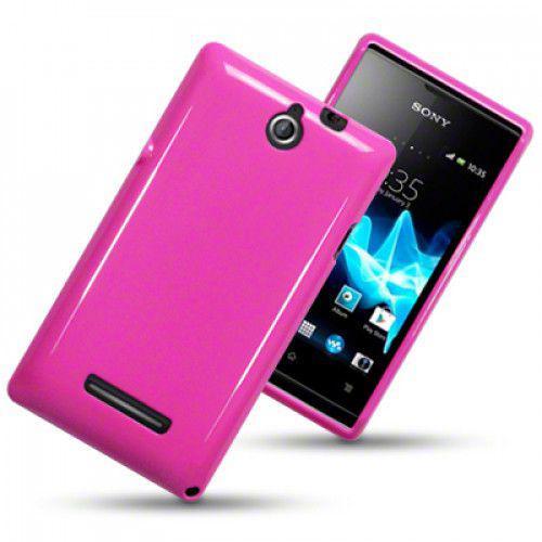 ΘήκηTPU Gel για Sony Xperia E C1505 Solid Hot Pink