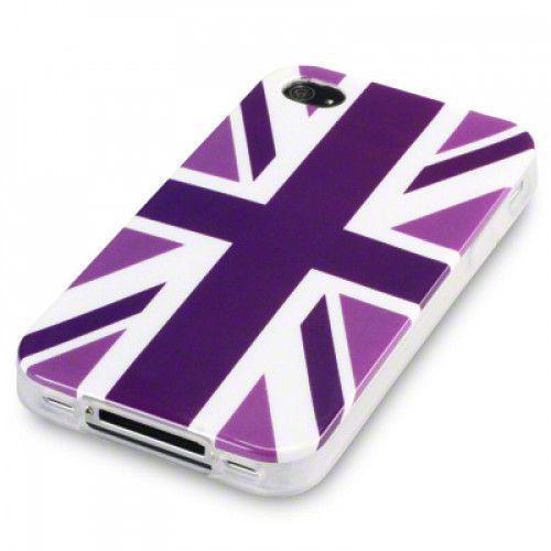 Θήκη TPU Gel για Apple iPhone 4 Cool Britannia Purple by Warp