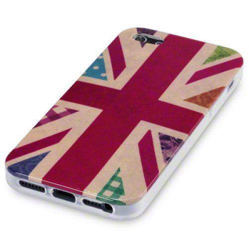 Θήκη TPU Gel για Apple iPhone 5 Black Vintage Floral Union Jack by Warp