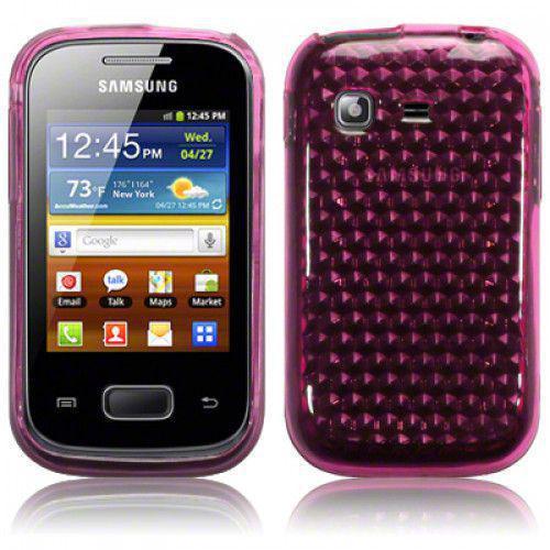 Θήκη TPU Gel για Samsung Pocket S5300 Pink +Φιλμ Προστασίας Οθόνης