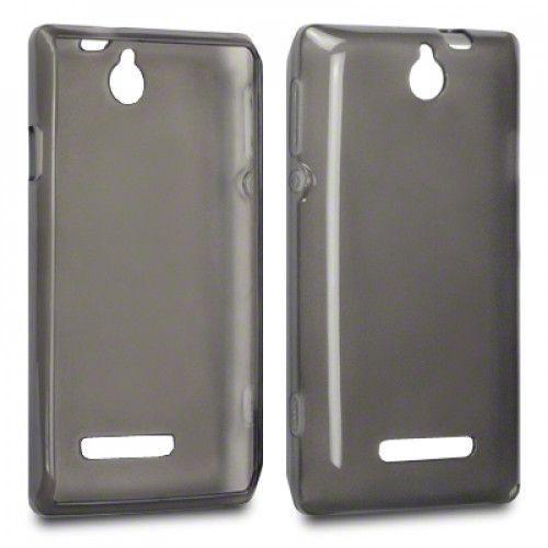 Θήκη TPU Gel για Sony Xperia E C1505 Smoke Black