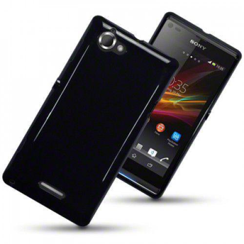 Θήκη TPU Gel για Sony Xperia L C2105 Solid Black by Warp