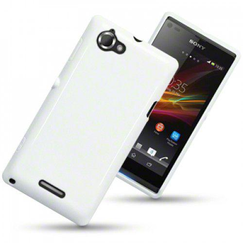 Θήκη TPU Gel για Sony Xperia L C2105 Solid White by Warp