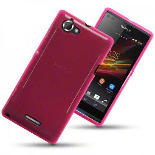 Θήκη TPU Gel για Sony Xperia L C2105 Hot Pink by Warp+ Φιλμ Προστασίας Οθόνης