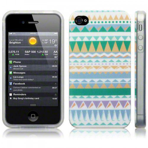 Θήκη TPU Gel για iPhone 4/4s Aztec Green by Warp
