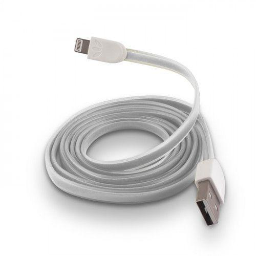 USB Cable Silicone white για iPhone 5 / 5s / 6 white