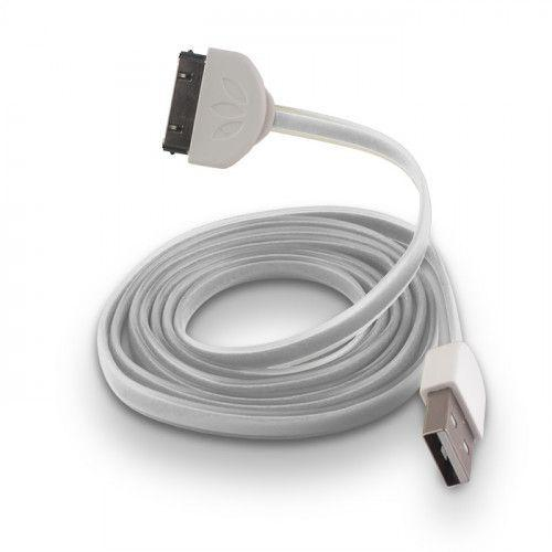 USB Cable Silicone white για iPhone 3G / 3GS / 4 /4S
