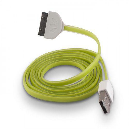 USB Cable Silicone green για iPhone 3G / 3GS / 4 /4S