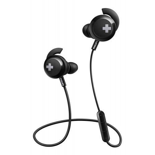 Philips SHB4305BK Bass+ Bluetooth Earphones, Wireless with Mic, Deep Bass, Ideal for Sport - Black