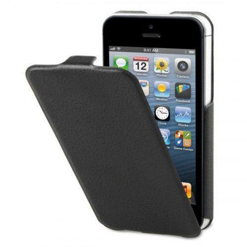 Θήκη Xqisit Flipcover ultra thin για iPhone 5 black
