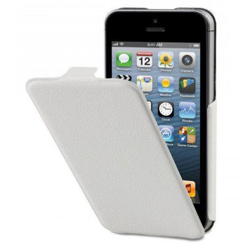 Θήκη Xqisit Flipcover ultra thin για iPhone 5 white