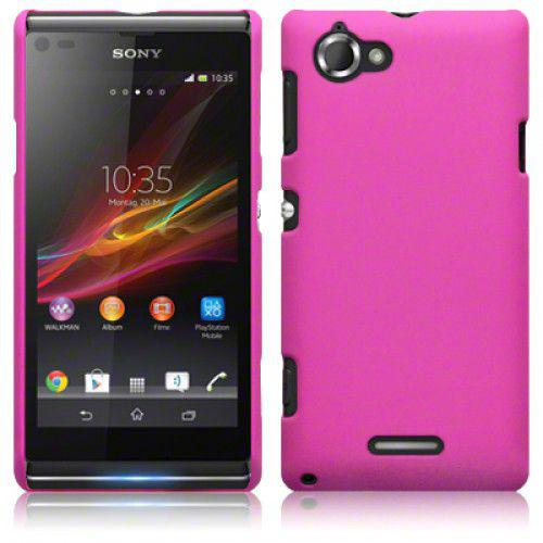 Θήκη για Sony Xperia L C2105 Hybrid Rubberised Back Cover - Hot Pink by Warp