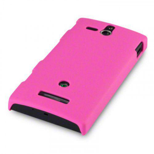 Θήκη για Sony Xperia U Rubberised Hard Cover Pink by Warp