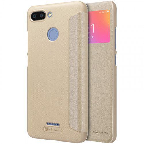 Θήκη Nillkin Sparkle Folio S View για Xiaomi Redmi 6 χρυσού χρώματος