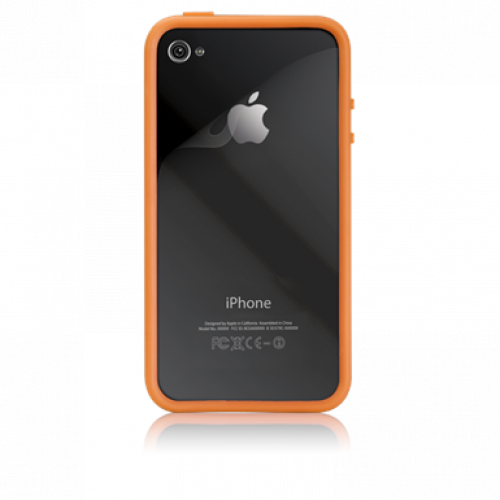 Case-Mate Apple iPhone 4/4S Hula Case Orange + Screen Protector (Bumper)