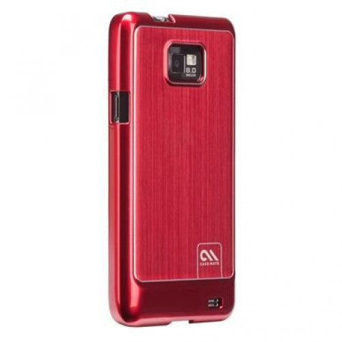 Case-Mate Samsung Galaxy S II Barely There Brushed Aluminum Cases Red