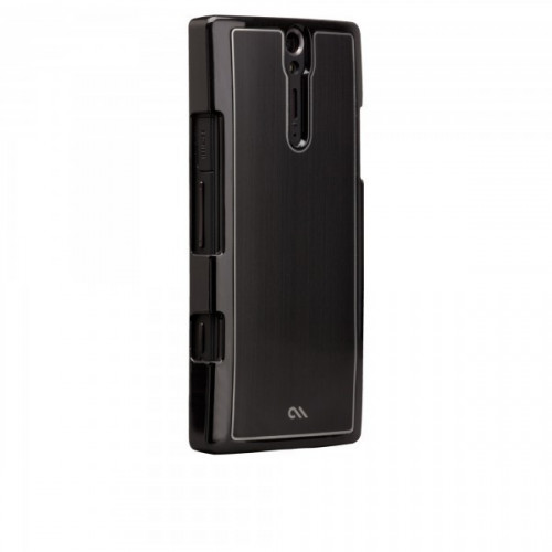 Case-mate Barely There Brushed Aluminium Cases for Sony Xperia S in Black