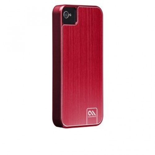 Case-Mate iPhone 4 / 4S Barely There Brushed Aluminum Red