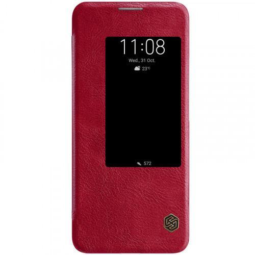 Θήκη Nillkin Qin S View Book για Huawei Mate 20 Pro κόκκινου χρώματος