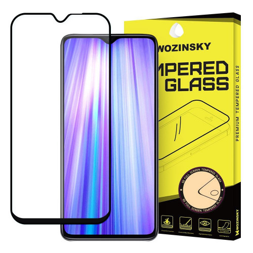 Wozinsky Tempered Glass Full Glue Full Coveraged with Frame Case Friendly for Xiaomi Redmi Note 8 Pro black