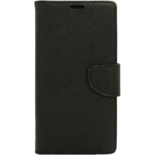 Θήκη OEM Fancy Diary για Xiaomi Redmi Note 4 μαύρου χρώματος (θήκες για κάρτες, χρήματα,stand )
