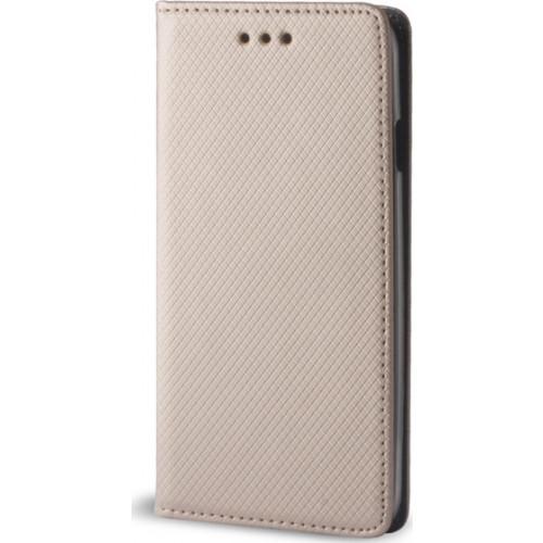 Θήκη OEM Smart Magnet για Xiaomi Redmi 4X χρυσού χρώματος (stand ,θήκη για κάρτα )