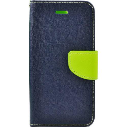 Θήκη OEM Fancy Diary για Xiaomi Redmi 4X Blue Lime (θήκες για κάρτες, χρήματα,stand )