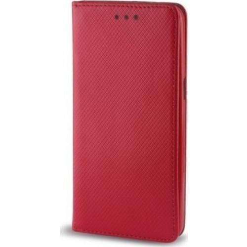 Θήκη OEM Smart Magnet για Xiaomi Redmi 4X κόκκινου χρώματος (stand ,θήκη για κάρτα )