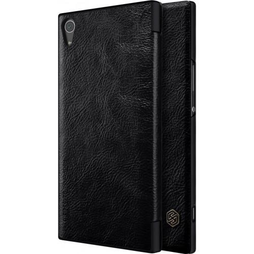 Θήκη Nillkin Qin original leather cover για Sony Xperia XA1 Ultra G3221 G3223 μαύρου χρώματος