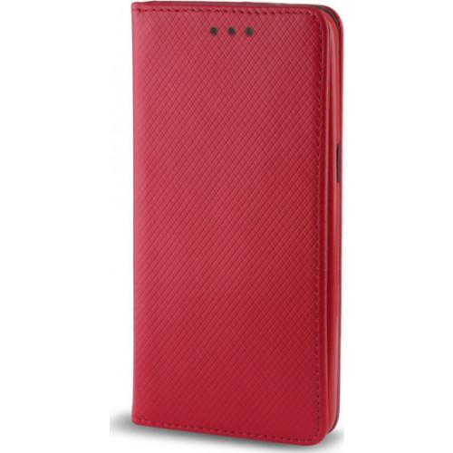 Θήκη OEM Smart Magnet για Xiaomi Redmi Note 5A κόκκινου χρώματος (stand ,θήκη για κάρτα )