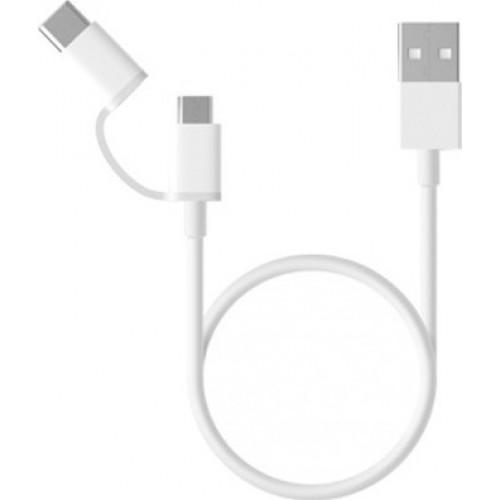 Xiaomi Regular USB to Type-C / micro USB Cable Λευκό 1m SJV4082TY