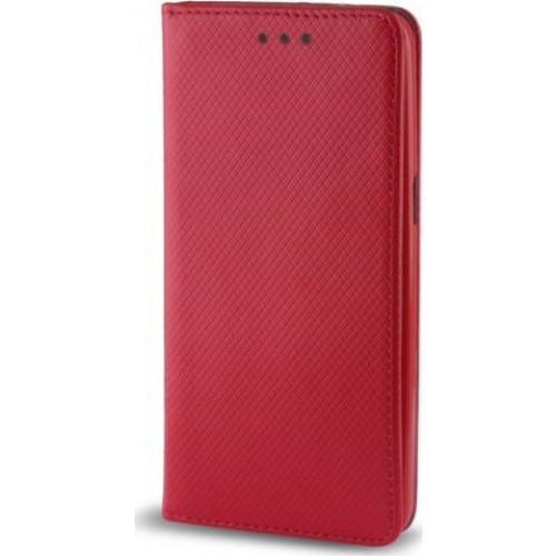 Θήκη OEM Smart Magnet για Samsung Galaxy J6 J600 κόκκινου χρώματος (stand ,θήκη για κάρτα )