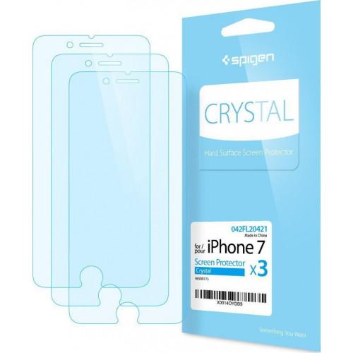 Spigen® Προστατευτική μεμβράνη οθόνης για iPhone 7  / iPhone 8 Crystal (3 ΤΕΜΑΧΙΑ ) 042FL20421