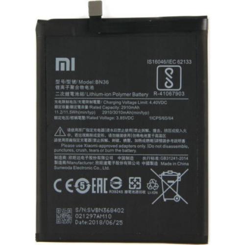 Μπαταρία Original Xiaomi BN36 3010mah για Xiaomi mi A2  Bulk