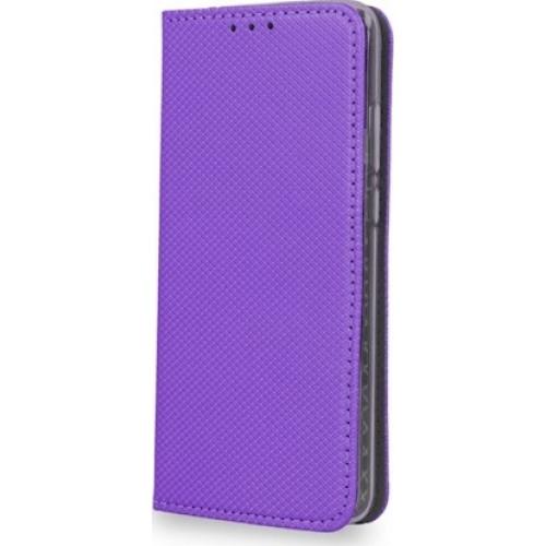 Θήκη OEM Smart Magnet για Huawei Y6 2018 μωβ χρώματος ( θήκη για κάρτα , stand )