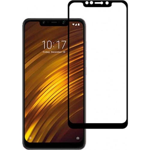 Φιλμ Προστασίας Οθόνης Tempered Glass (άθραυστο ) 9H για Xiaomi Pocophone F1 πλήρους κάλυψης -  full face black