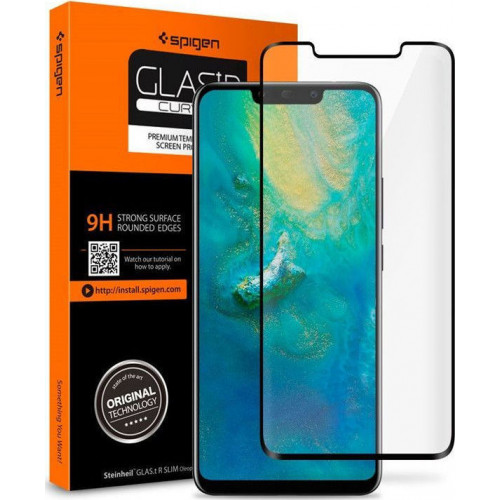 Spigen Glas.tR Case Friendly Full Cover Tempered Glass Black Huawei P30 Pro L37GL25745