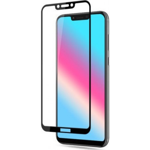 Tempered Glass (άθραυστο ) 5D 9H full glue για Huawei Honor Play black